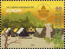[EUROPA Stamps - The 100th Anniversary of Scouting, type OQ]