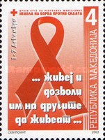 [Red Cross - Fight Against AIDS Week, type DR]