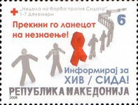 [Red Cross - Fight Against AIDS Week, type EM]