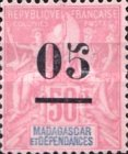 [No. 38, 42 & 40 Surcharged, type I]