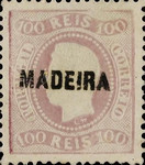 [King Luis I - Portuguese Postage Stamps Overprinted, MADEIRA, Typ A10]