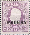 [King Luis I - Portuguese Postage Stamps Overprinted, MADEIRA, Typ A12]