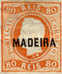 [King Luis I - Portuguese Postage Stamps Overprinted, MADEIRA, Typ A2]