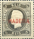 [King Luis I - Portuguese Postage Stamps Overprinted, MADEIRA, Typ A4]