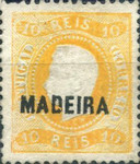 [King Luis I - Portuguese Postage Stamps Overprinted, MADEIRA, Typ A5]