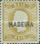 [King Luis I - Portuguese Postage Stamps Overprinted, MADEIRA, Typ A6]