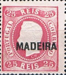 [King Luis I - Portuguese Postage Stamps Overprinted, MADEIRA, Typ A7]