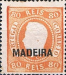 [King Luis I - Portuguese Postage Stamps Overprinted, MADEIRA, Typ A9]