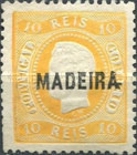 [King Luis I - Portuguese Postage Stamps Overprinted, MADEIRA, Typ B1]