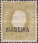 [King Luis I - Portuguese Postage Stamps Overprinted, MADEIRA, Typ B2]