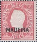[King Luis I - Portuguese Postage Stamps Overprinted, MADEIRA, Typ B3]