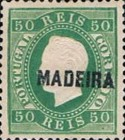 [King Luis I - Portuguese Postage Stamps Overprinted, MADEIRA, tyyppi B4]