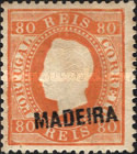[King Luis I - Portuguese Postage Stamps Overprinted, MADEIRA, Typ B5]