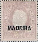 [King Luis I - Portuguese Postage Stamps Overprinted, MADEIRA, Typ B6]