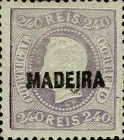 [King Luis I - Portuguese Postage Stamps Overprinted, MADEIRA, tyyppi B8]