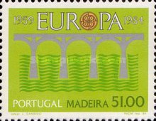 [EUROPA Stamps - Bridges - The 25th Anniversary of CEPT, type BA]