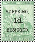 """[Cape of Good Hope Postage Stamps Surcharged & Overprinted """"MAFEKING BESIEGED"""", type A]"""