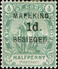"""[Cape of Good Hope Postage Stamps Surcharged & Overprinted """"MAFEKING BESIEGED"""", type A1]"""