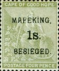 """[Cape of Good Hope Postage Stamps Surcharged & Overprinted """"MAFEKING BESIEGED"""", type A4]"""