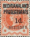 """[British Bechuanaland Postage Stamps Surcharged & Overprinted """"MEFAKING BESIEGED."""", type B]"""