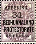 """[British Bechuanaland Postage Stamps Surcharged & Overprinted """"MEFAKING BESIEGED."""", type B1]"""