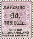 """[British Bechuanaland Postage Stamps Surcharged & Overprinted """"MEFAKING BESIEGED."""", type B6]"""