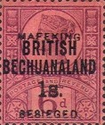 """[British Bechuanaland Postage Stamps Surcharged & Overprinted """"MEFAKING BESIEGED."""", type B9]"""