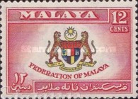 [Coat of Arms, Flag and Map of Malaya, Typ B]