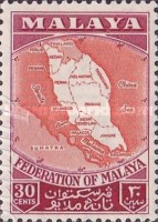 [Coat of Arms, Flag and Map of Malaya, Typ D]
