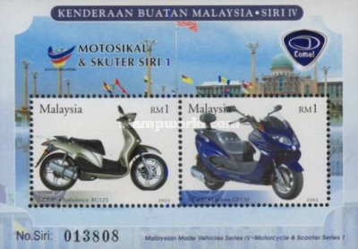 [Malaysian made Motorcycles and Scooters, Typ ]