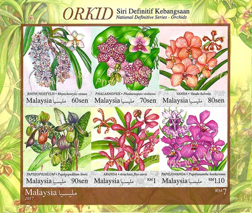 [Definitives - Orchids, Typ ]