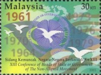 [The 13th Conference of Heads of State or Government of the Non-Aligned Movement, Kuala Lumpur, Typ AOX]
