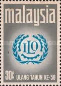 [The 50th Anniversary of International Labour Organization, type BA]