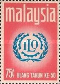 [The 50th Anniversary of International Labour Organization, type BA1]