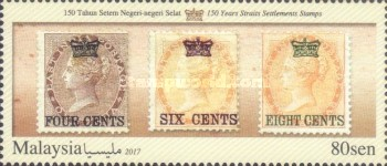 [The 150th Anniversary of the First Straits Settlements Stamps, Typ CHR]