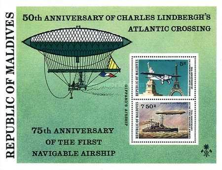 [The 50th Anniversary of Charles Lindbergh's Transatlantic Flight and 75th Anniversary of First Navigable Airships, Typ ]