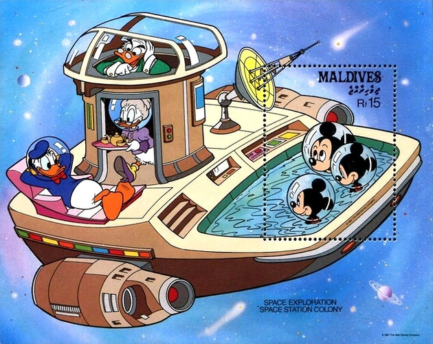 [Space Exploration - Walt Disney Cartoon Characters, Typ ]