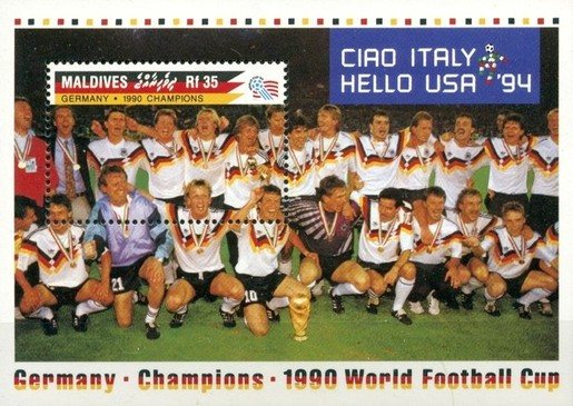 [The German National Team Winning the 1990 Football World Cup in Italy, Typ ]