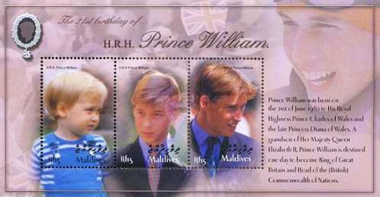 [The 21th Anniversary of the Birth of Prince William, type ]