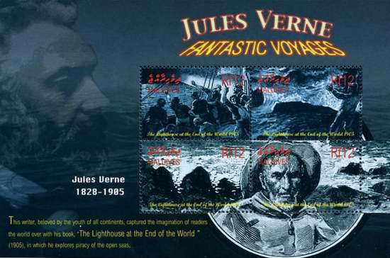 [The 176th Anniversary of the Birth of Jules Verne, French Writer, 1828-1905, type ]