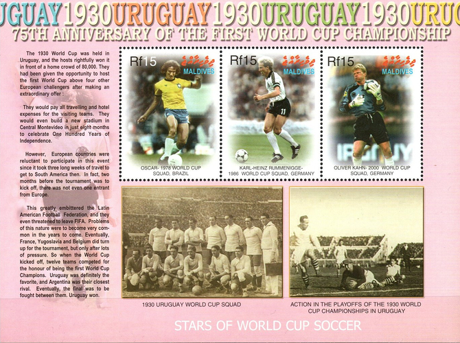 [The 75th Anniversary of the First Football World Cup, Typ ]