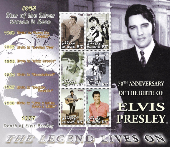 [The 70th Anniversary of the Birth of Elvis Presley, 1935-1977, Typ ]
