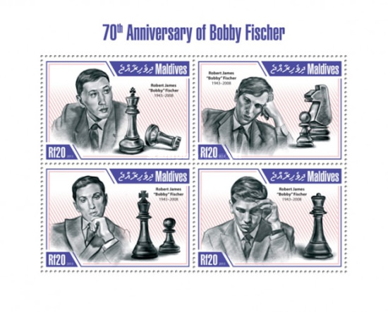 [Sports - The 70th Anniversary of the Birth of Bobby Fischer, 1943-2008, Typ ]