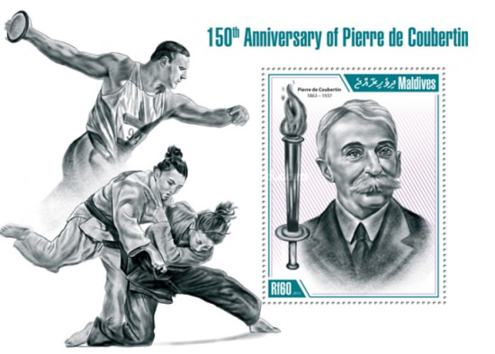 [Sports - The 150th Anniversary of Pierre de Coubertin, 1863-1937, Typ ]