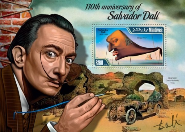 [Paintings - The 110th Anniversary of the Birth of Salvador Dali, 1904-1989, Typ ]