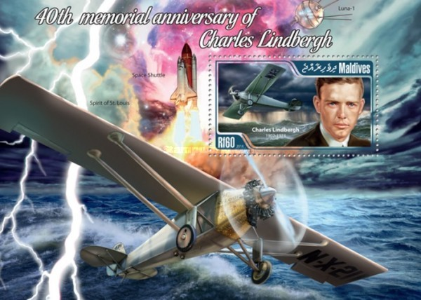 [The 40th Anniversary of the Death of Charles Lindbergh, 1902-1974, type ]