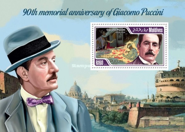 [The 90th Anniversary of the Death of Giacomo Puccini, 1858-1924, Typ ]
