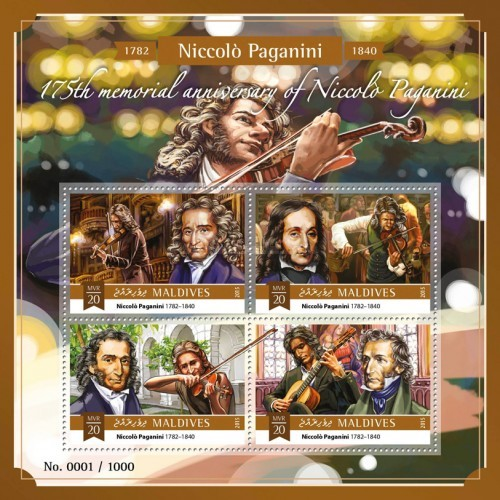 [The 175th Anniversary of the Death of Niccolo Paganini, 1782-1840, Typ ]