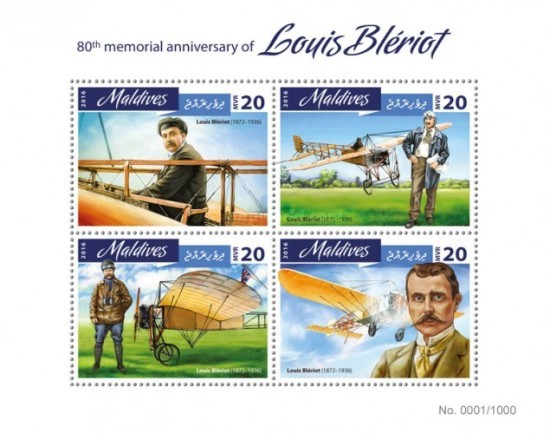 [Transportation - The 80th Anniversary of the Death of Louis Bleriot, 1872-1936, Typ ]