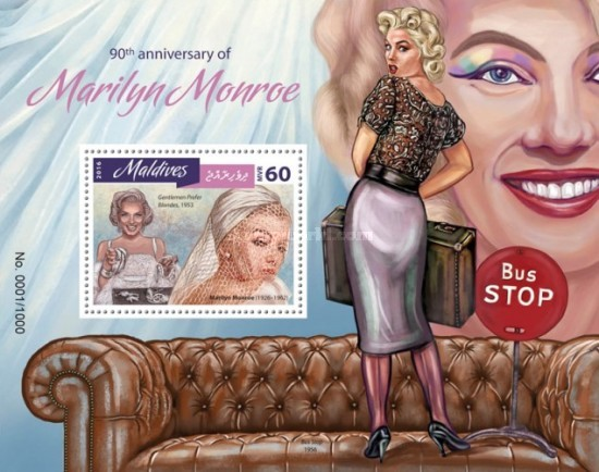 [The 90th Anniversary of the Birth of Marilyn Monroe, 1926-1962, Typ ]
